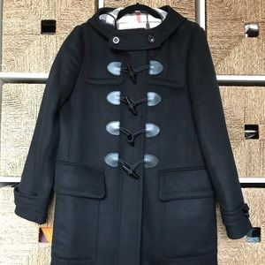 Burberry Brit Finsdale Wool Toggle Coat NWT Black
